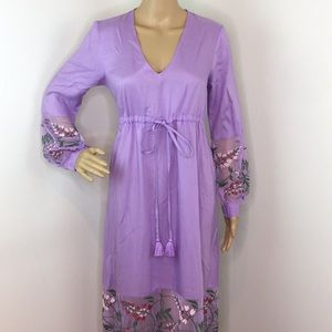 ASOS Maxi Lacey Violet Dress